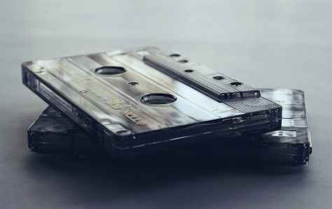 close up photo of cassette tapes